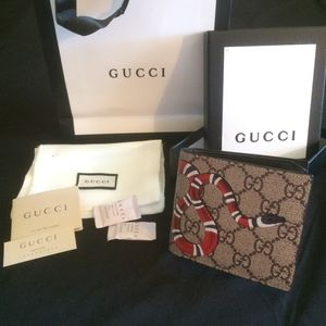 Authentic Men's Gucci King Snake Wallet